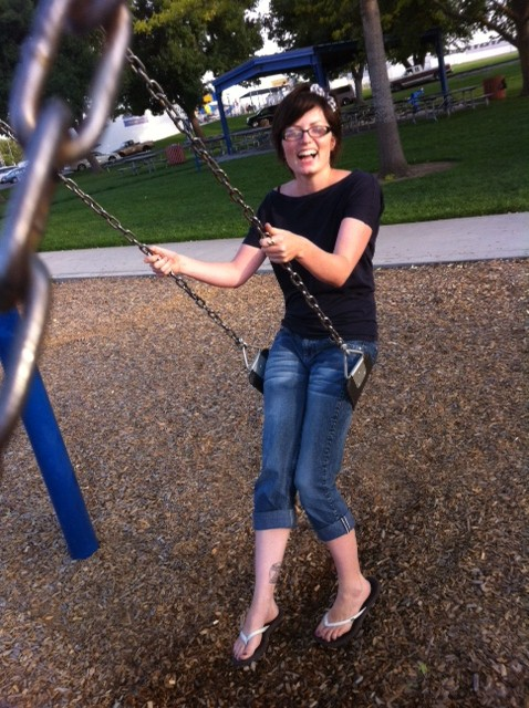 I even managed to fit in some swinging this week!  It's been a stressful couple weeks, I like to swing when that happens, you can't help but smile while swinging :)