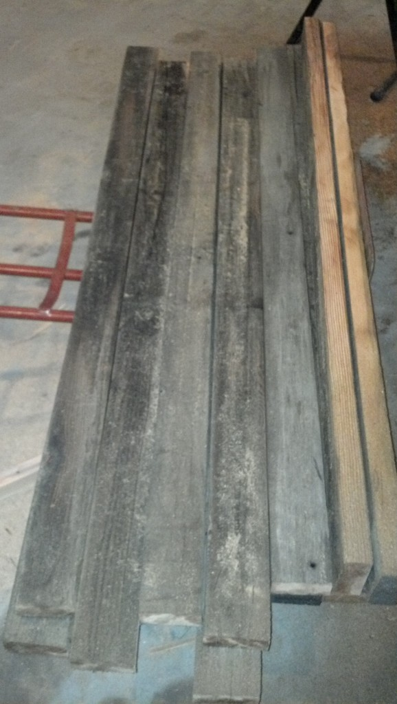 I also managed to finish ripping the deck boards for the patio.  I am using the same boards that were originally on the deck of the trailer.  They are super dirty but hopefully clean up well.