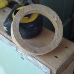 And now I have a wood doughnut :)