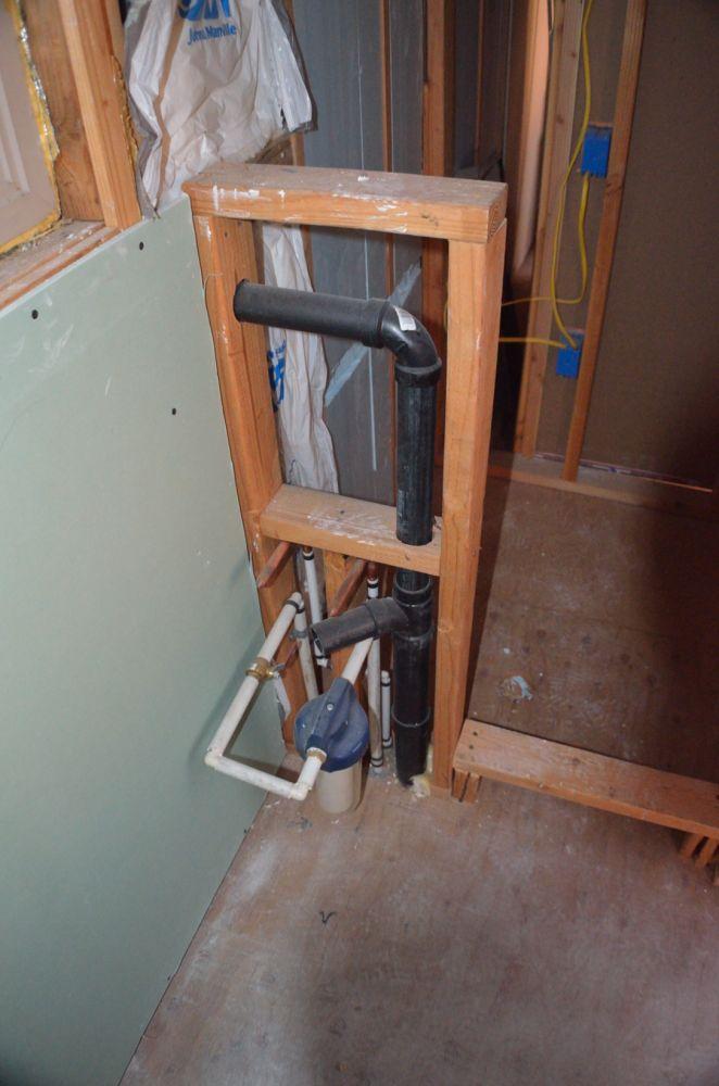 And bathroom plumbing