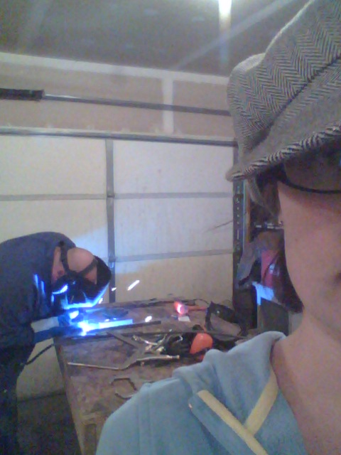 Nater welding it up!