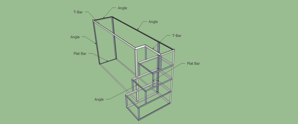 And here is the schematic for the steps/dresser, this is what we started on this weekend!