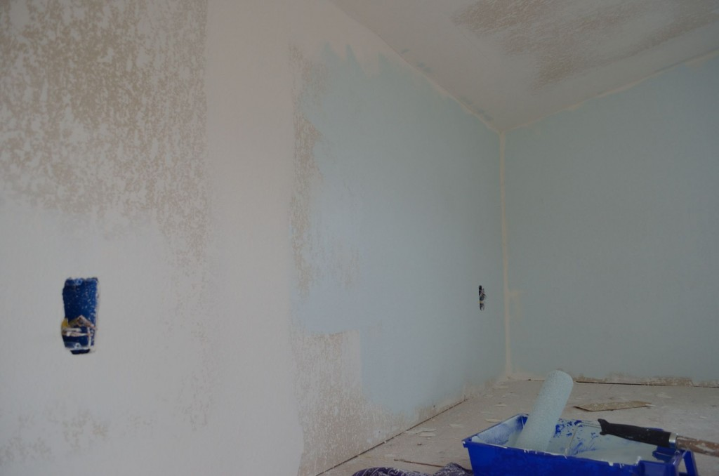 I was wrong, it was not destiny, it is a horrible color! :)  It looks totally white, even the chip against a white wall looked white, against a tan wall it looked tan, as a color on the wall it looks like Baby Blue meets Lime Green.  Just awful with my material pallet.
