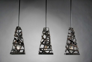 I think some cool metal shades like this would rock above my kitchen where I have 4 pendant fixtures.  I may just go with some mason jars still until I can get it worked out (I have also been liking the ideas of taking a glass blowing class to make these four fixture covers.