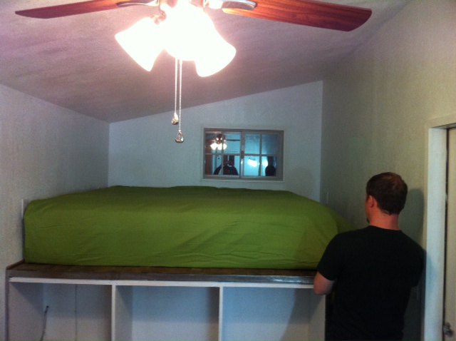 Moving the bed in!