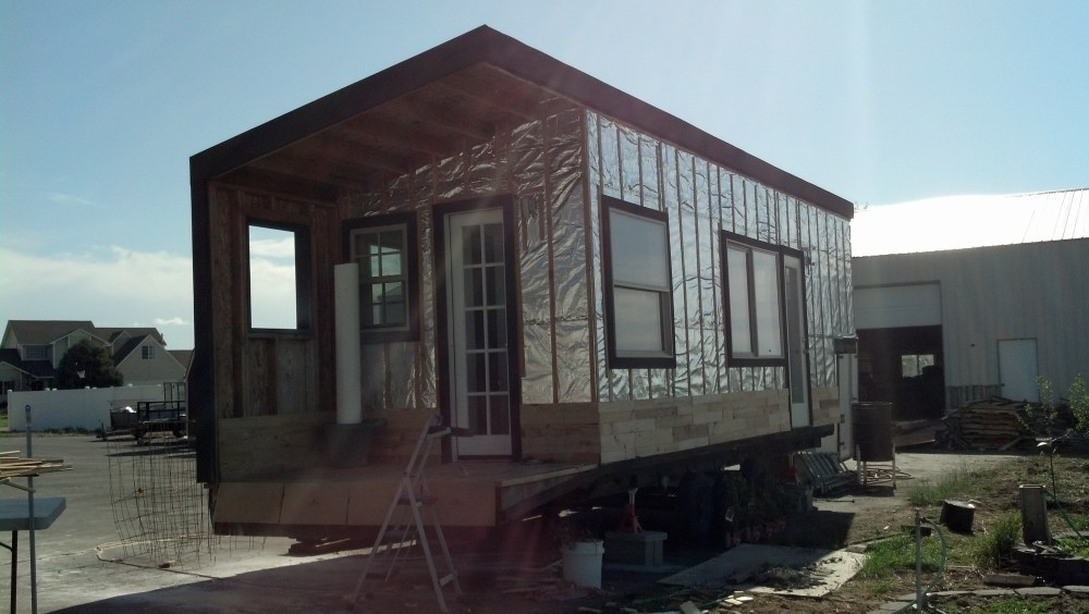 starting in on the siding!