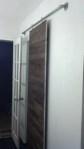 The completed bathroom barn door