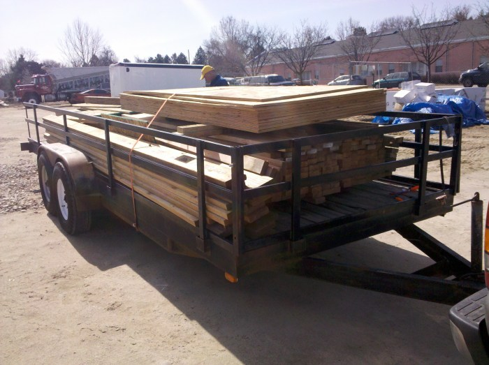 Picking up my lumber.