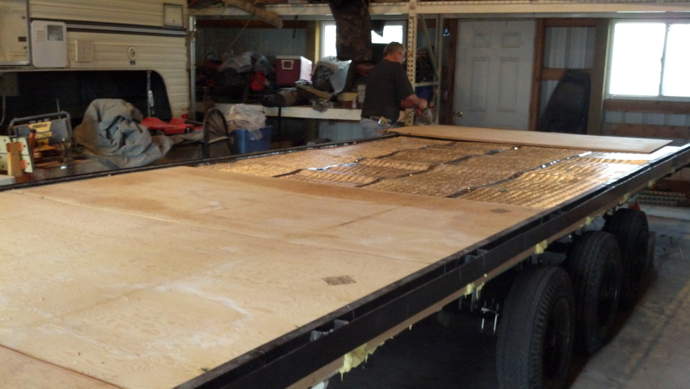 Slide in the plywood floor....