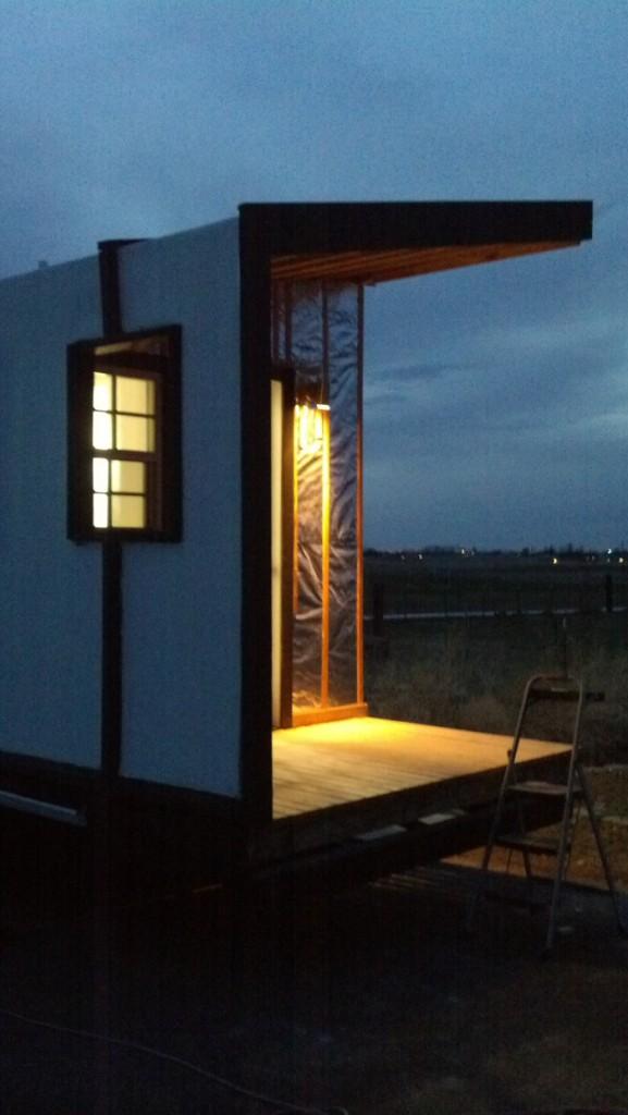 Porch light installed