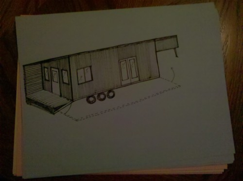 My initial sketch after all the planning