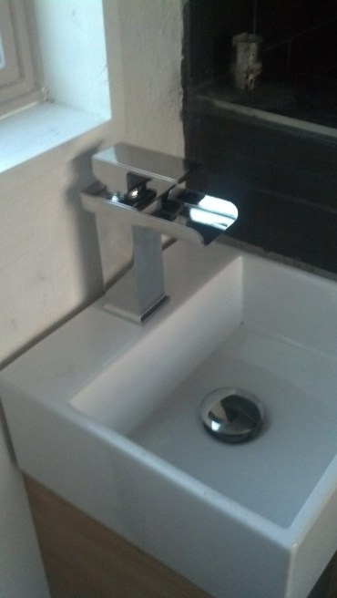 Bathroom sink is in!