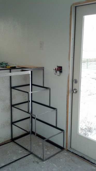 Here is the stair frame