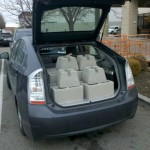 I have no truck so this is how I roll... nearly 700# of concrete... in my Prius...
