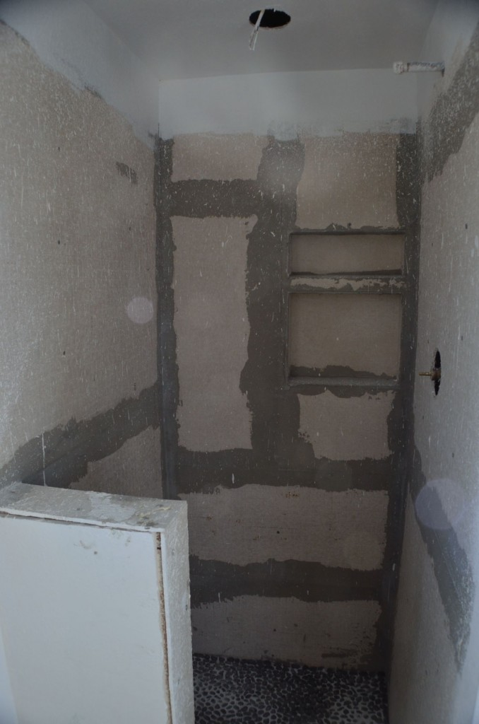 The shower is still ready to get some tile, hopefully I can start cutting tile this week.