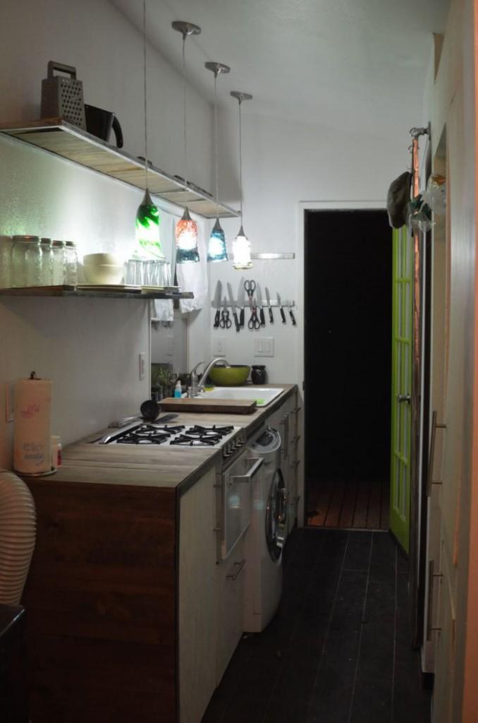 Kitchen shelves up