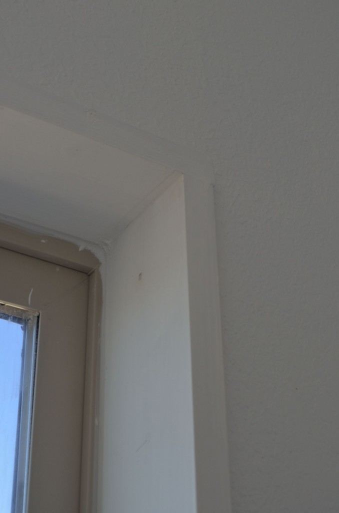 Detail shot of the window trim