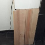 I cut some boards for the bathroom sink, not complete but planed and ready to go.