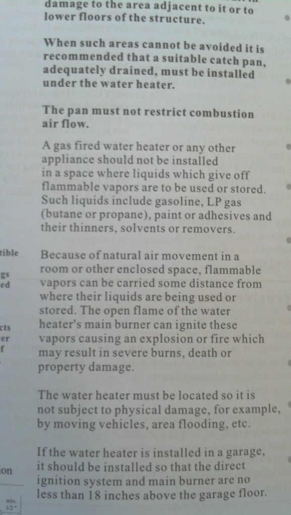 And here is the reason I have decided NOT to put both my propane tank AND my water heater under the sink, pretty important paragraphs that will make me sleep better at night :)  I think I will move the tank out-doors under the trailer anyway, save myself a lot of risks of keeping it indoors.  It's just one more hole in the envelope which I was trying to avoid but I feel like my house is actually still really tight!  and I will fill the gaps as needed