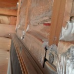 The metal flashing is over the furring and then flashed in with flexible window flashing and then caulked in the corners