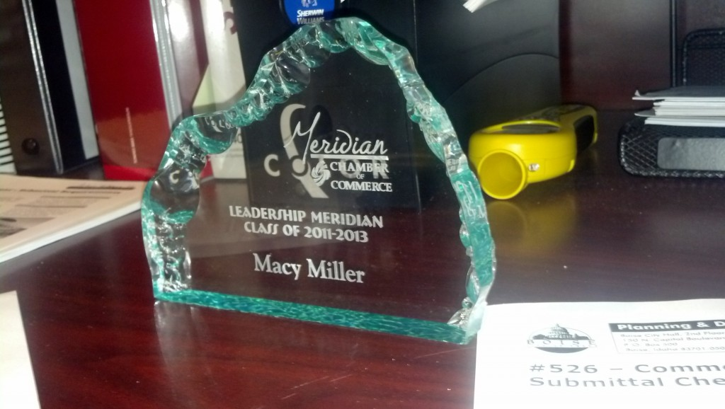 Yesterday I graduated from Leadership Meridian, great program.  Most cities have some sort of leadership program and I would HIGHLY recommend you get involved, it is a great first step to touching base with your city.