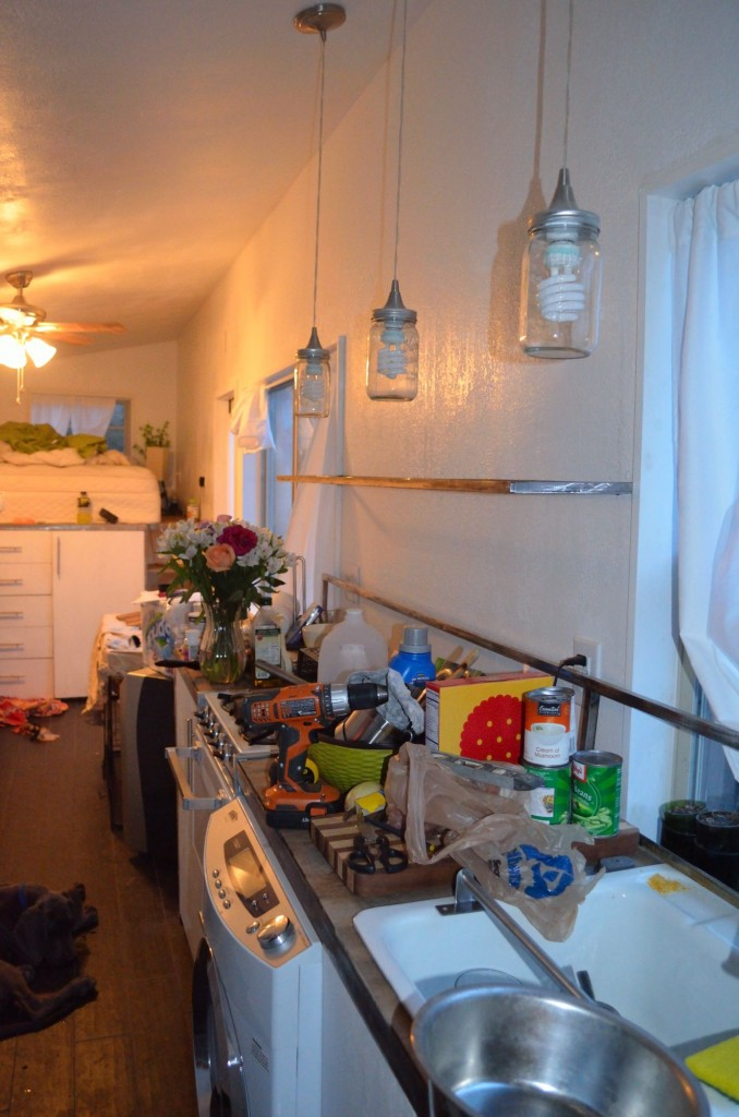 My wreck of a kitchen, since I have no where to put anything it all just piles up!  I was getting tired of it!