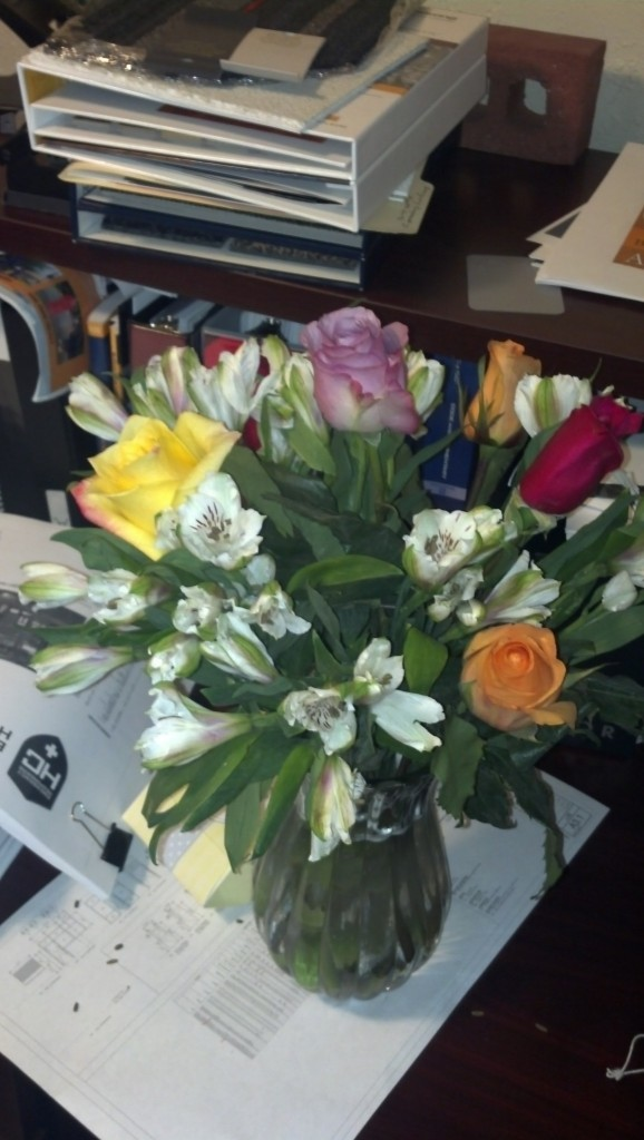 And also I got some super beautiful flowers from Lacy AND Jed for some congratulations!