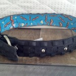 And also one of her home-made dog collers!  I am SO stoked about this,  She has a side business called Upcycle Attire where she recycles bike parts into cool stuff like dog collars and belt buckles among other things