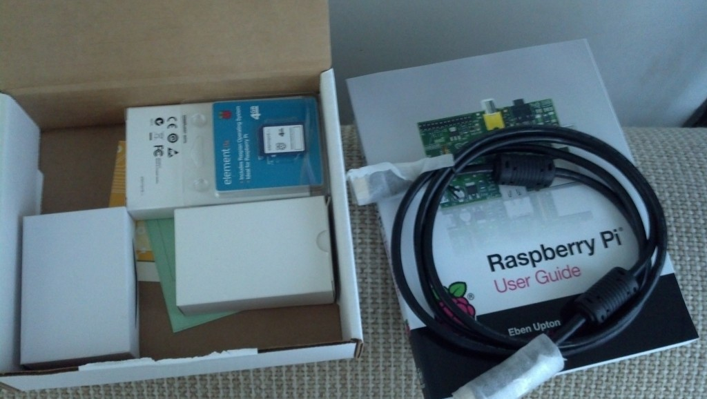 And a Raspberry Pi computer, for those of you who don't know what this is, Google it, it's pretty cool.  Basically a programmer worked out an affordable solution to getting technology in the hands of everyone, targeted a lot at third world countries it is a tiny little powerful computer.  I will be setting mine up as a media center to use with my new TV.
