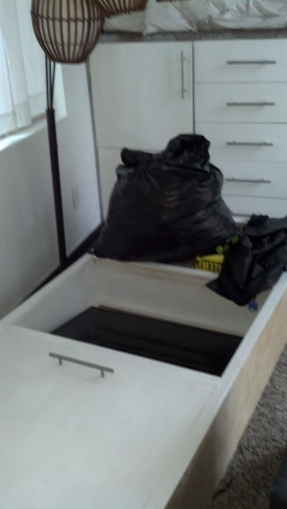 Packed up the tiny house, this is what it looks like when you're ready to move!