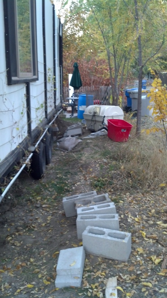 Had to crawl under and move the composting tank and the grey water container.