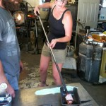 And I got to check glass blowing off of my bucket list when I made my kitchen lights with my brothers!