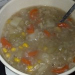 Turned out actually pretty good, I've never been good at soups but I got at least four freezer meals out of it too! MMMM