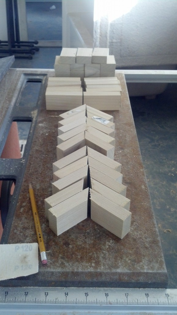 I am going to make all four rails even though I will only need three for a little bit.