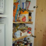 And the pantry, FULL of food and needs to be re-organized yet, there are a couple weekend coming up where LOTSA cooking will be taking place, I think that's a good time to go through there too!