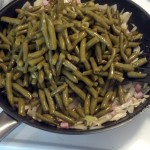 Oh yeah, and the green beans.... I ended up using one whole sweet onion, about 4-5 cloves of garlic, about a half a stick of butter, as much halm and almonds as you like (mine is about 1/4-1/2 cup of each and 4 cans of green beans, you can use fresh too, just steam them a little and saute them with the onions, I was going for valume this weekend so I used a lot of shortcuts to get the most but healthiest food I could!