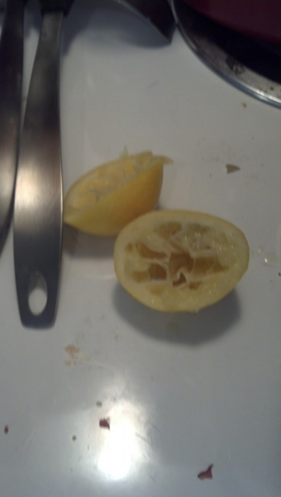 I added the juice of a whole lemon in with the saute
