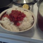 While that baked I made some southwest rice for burritos too