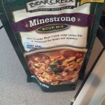Another shortcut on the soups was to use the pre-packaged Bea Creek Soups, they are delicious if you add al teh extras, just kinda plain if you don't.  I started with minestrone