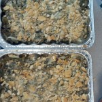 While doing that the green bean casseroles got done so I pulled them out to cool.