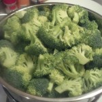 Monday I did my veggies that I forgot to do on the weekend, starting with some broccoli, I just steamed these