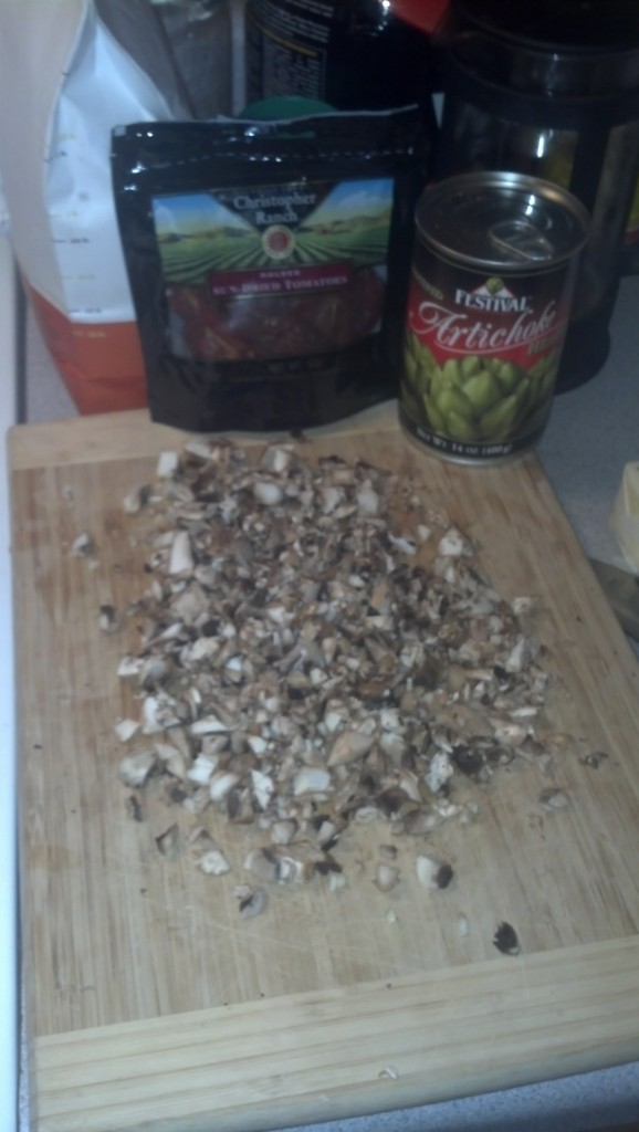 I add some mushrooms, even though I hate mushrooms, I just chop them up really small and they basically go away but have a good flavor for the sauce.