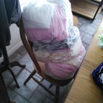 And here are all of her diapers!  Mom made 5 dozen!  I'm glad I made storage room enough!