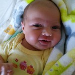 Here is our little sweety as of today, she's got lots of smiles and other funny faces!