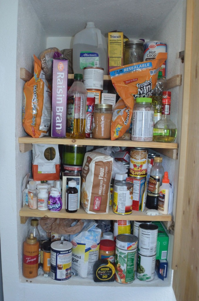 And the dreaded pantry which needs cleaned up!