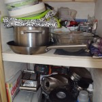 My kitchen cabinet (I forgot to get the double cabinet, its a complete mess though :)