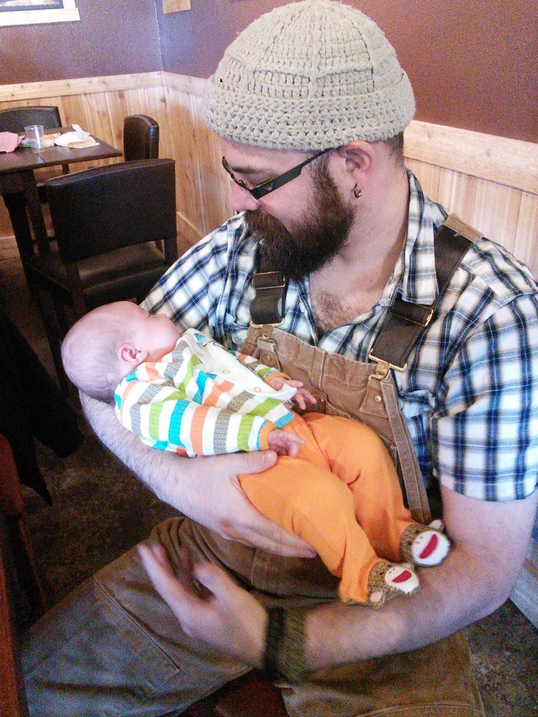 She likes her uncle dan and the and the cute monkey outfit he and Jeff got her!