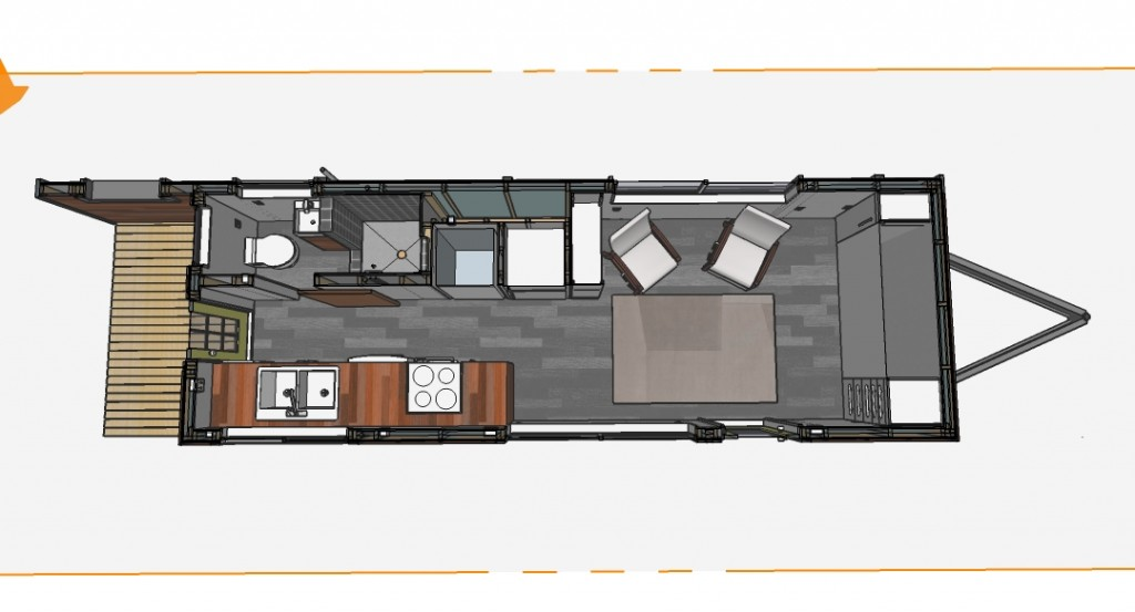 Bumper pull style minimotives minimotives for Tiny house trailer floor plans