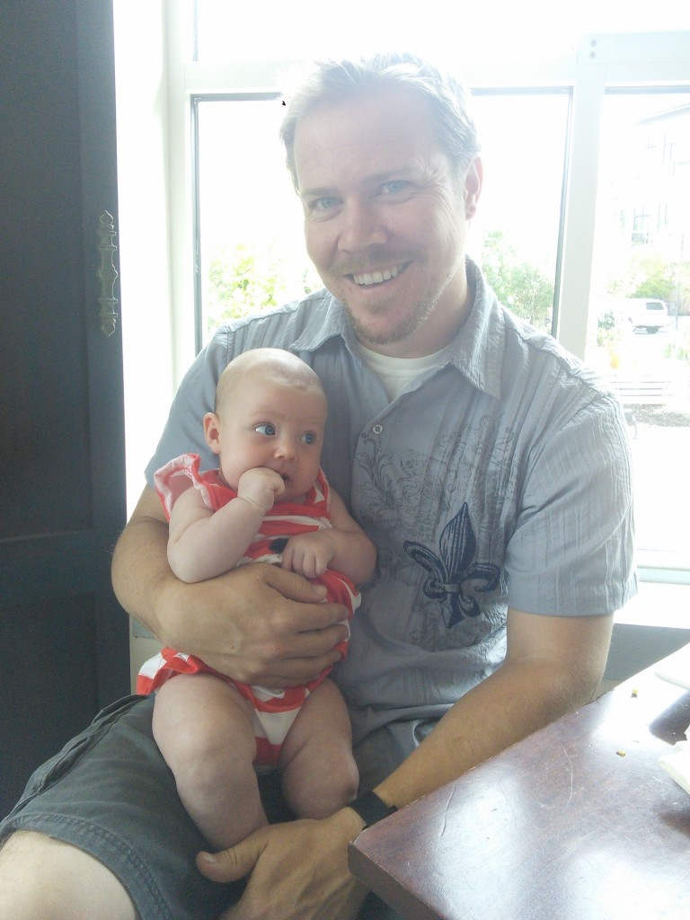 And this guy got to have his first fathers day, I took him to breakfast to celebrate.  the day before we made a craft