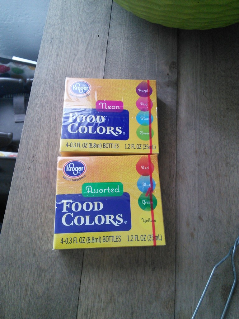 I picked up some food coloring and game on!